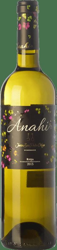 17,95 € | White wine San Pedro Ortega Anahí D.O.Ca. Rioja The Rioja Spain Malvasía, Tempranillo White, Sauvignon White Magnum Bottle 1,5 L