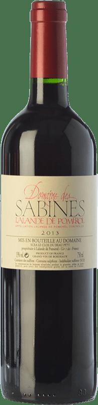 21,95 € Free Shipping | Red wine Jean-Luc Thunevin Domaine des Sabines Crianza A.O.C. Lalande-de-Pomerol Bordeaux France Merlot, Cabernet Sauvignon, Cabernet Franc Bottle 75 cl