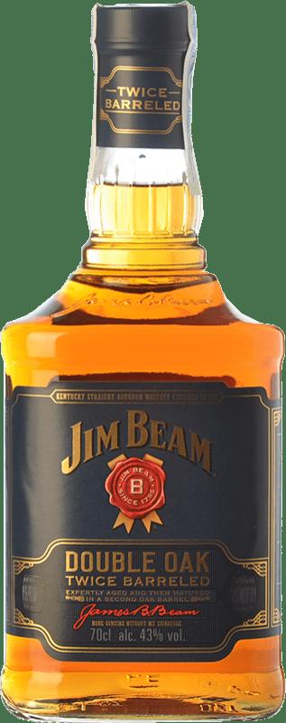29,95 € 免费送货   波旁酒 Jim Beam Double Oak 肯塔基 美国 瓶子 70 cl