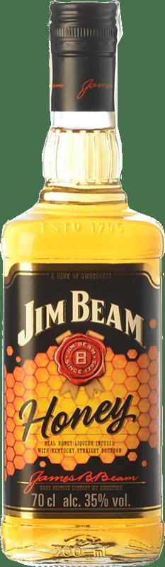 12,95 € 免费送货   波旁酒 Jim Beam Honey 肯塔基 美国 瓶子 70 cl