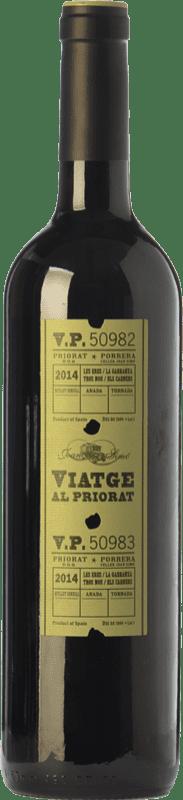 15,95 € Free Shipping | Red wine Joan Simó Viatge al Joven D.O.Ca. Priorat Catalonia Spain Merlot, Syrah, Grenache, Cabernet Sauvignon, Carignan, Grenache Hairy Bottle 75 cl