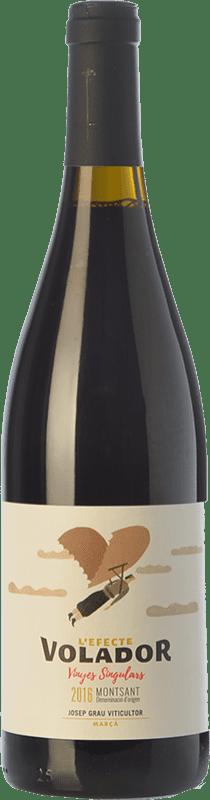 11,95 € 免费送货 | 红酒 Josep Grau L'Efecte Volador Joven D.O. Montsant 加泰罗尼亚 西班牙 Grenache, Carignan 瓶子 75 cl