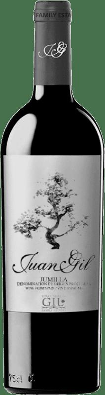 14,95 € 免费送货 | 红酒 Juan Gil Etiqueta Plata Crianza D.O. Jumilla 卡斯蒂利亚 - 拉曼恰 西班牙 Monastrell 瓶子 75 cl