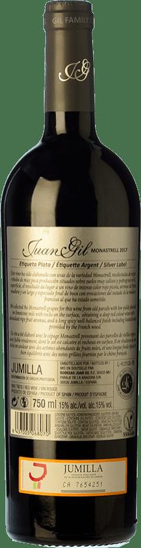 10,95 € Free Shipping | Red wine Juan Gil Etiqueta Plata Crianza D.O. Jumilla Castilla la Mancha Spain Monastrell Bottle 75 cl