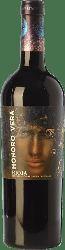 6,95 € 免费送货 | 红酒 Juan Gil Honoro Vera Joven D.O.Ca. Rioja 拉里奥哈 西班牙 Tempranillo 瓶子 75 cl