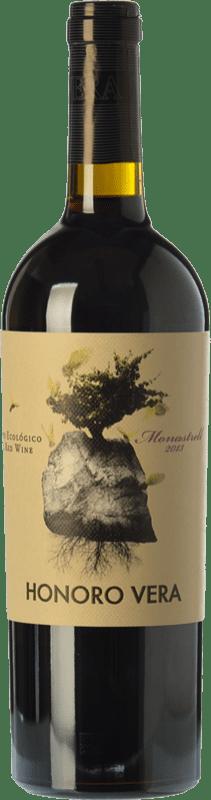 6,95 € Free Shipping | Red wine Juan Gil Honoro Vera Organic Joven D.O. Jumilla Castilla la Mancha Spain Monastrell Bottle 75 cl