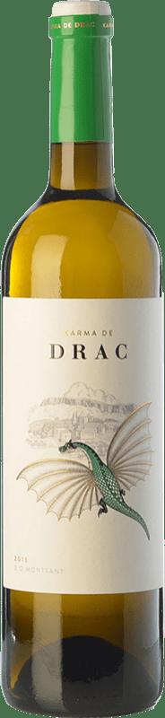 11,95 € Free Shipping | White wine Karma de Drac Blanc D.O. Montsant Catalonia Spain Grenache Tintorera, Grenache White, Macabeo Bottle 75 cl