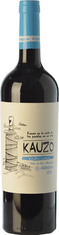 16,95 € | Red wine Kauzo Malbec-Syrah Joven I.G. Valle de Uco Uco Valley Argentina Syrah, Malbec Bottle 75 cl