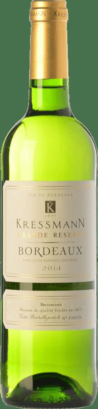 7,95 € Envío gratis | Vino blanco Kressmann Blanc Grande Réserve A.O.C. Bordeaux Burdeos Francia Sauvignon Blanca, Sémillon, Muscadelle Botella 75 cl