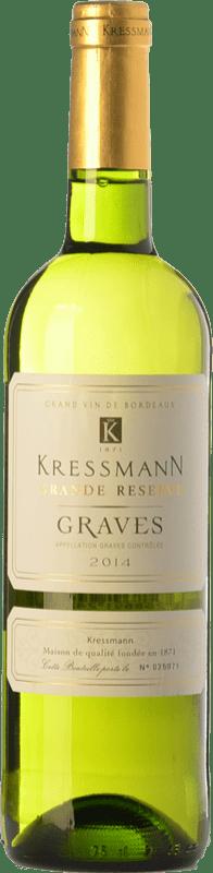 8,95 € Envío gratis | Vino blanco Kressmann Blanc Grande Réserve A.O.C. Graves Burdeos Francia Sauvignon Blanca, Sémillon Botella 75 cl