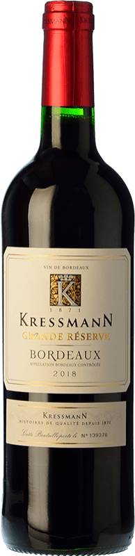 8,95 € Free Shipping | Red wine Kressmann Rouge Grande Réserve Gran Reserva A.O.C. Bordeaux Bordeaux France Merlot, Cabernet Sauvignon, Cabernet Franc Bottle 75 cl