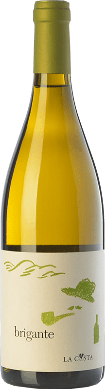 16,95 € Free Shipping | White wine La Costa Brigante Bianco I.G.T. Terre Lariane Lombardia Italy Chardonnay, Manzoni Bianco, Verdiso Bottle 75 cl