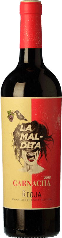 7,95 € Free Shipping | Red wine La Maldita Joven D.O.Ca. Rioja The Rioja Spain Grenache Bottle 75 cl
