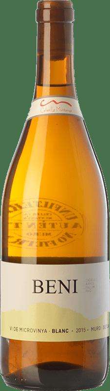 8,95 € Envío gratis | Vino blanco La Muntanya Beni Crianza España Malvasía, Garnacha Blanca Botella 75 cl