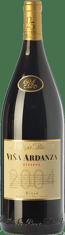 369,95 € Envío gratis   Vino tinto Rioja Alta Viña Ardanza Reserva 2008 D.O.Ca. Rioja La Rioja España Tempranillo, Garnacha Botella Jéroboam-Doble Mágnum 3 L