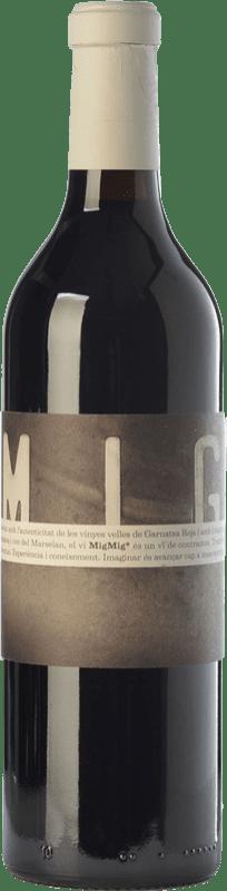 14,95 € Envío gratis | Vino tinto La Vinyeta MigMig Crianza D.O. Empordà Cataluña España Garnacha Tintorera, Marcelan Botella 75 cl