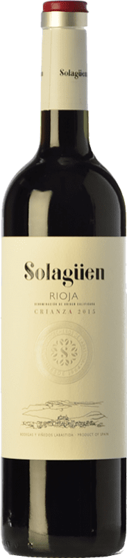 9,95 € Envoi gratuit | Vin rouge Labastida Solagüen Crianza D.O.Ca. Rioja La Rioja Espagne Tempranillo Bouteille 75 cl
