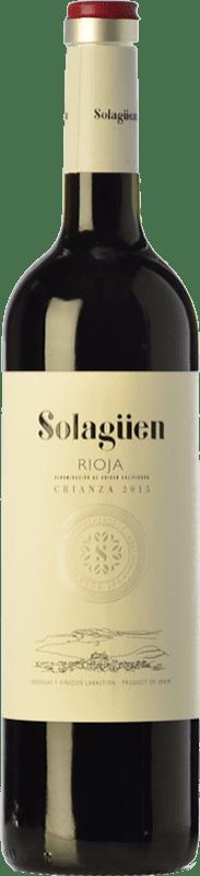 9,95 € Envío gratis | Vino tinto Labastida Solagüen Crianza D.O.Ca. Rioja La Rioja España Tempranillo Botella 75 cl