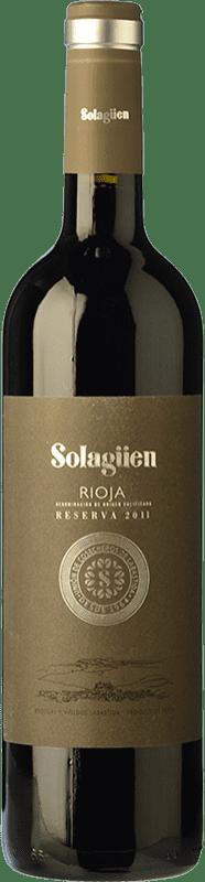 17,95 € Envío gratis | Vino tinto Labastida Solagüen Reserva D.O.Ca. Rioja La Rioja España Tempranillo Botella 75 cl