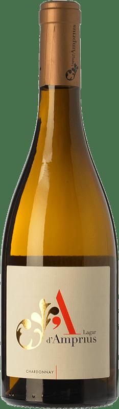 8,95 € Free Shipping | White wine Lagar d'Amprius I.G.P. Vino de la Tierra Bajo Aragón Aragon Spain Chardonnay Bottle 75 cl