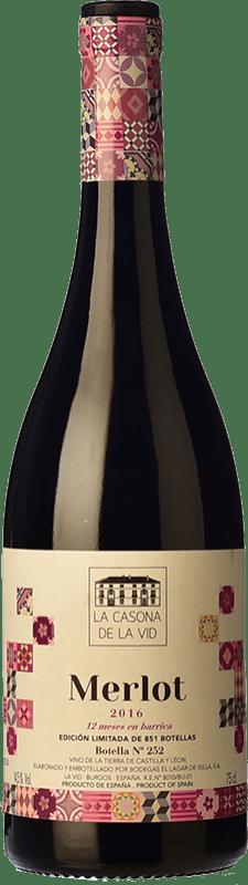 19,95 € Free Shipping | Red wine Lagar de Isilla La Casona de la Vid Crianza I.G.P. Vino de la Tierra de Castilla y León Castilla y León Spain Merlot Bottle 75 cl