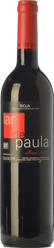19,95 € Free Shipping | Red wine Lar de Paula Cepas Viejas Crianza D.O.Ca. Rioja The Rioja Spain Tempranillo Bottle 75 cl