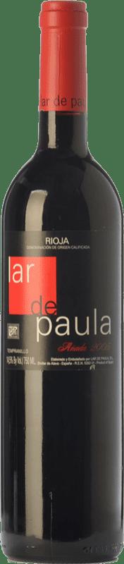 19,95 € Envío gratis | Vino tinto Lar de Paula Cepas Viejas Crianza D.O.Ca. Rioja La Rioja España Tempranillo Botella 75 cl