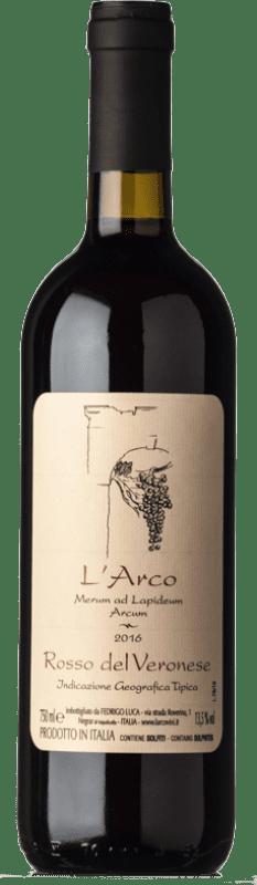 14,95 € Envío gratis | Vino tinto L'Arco Vini Rosso I.G.T. Veronese Veneto Italia Sangiovese, Corvina, Rondinella, Molinara, Teroldego Botella 75 cl