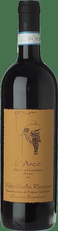 23,95 € Envío gratis | Vino tinto L'Arco Vini D.O.C. Valpolicella Ripasso Veneto Italia Corvina, Rondinella, Molinara Botella 75 cl