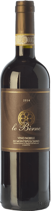 21,95 € Free Shipping | Red wine Le Bèrne Nobile D.O.C. Rosso di Montepulciano Tuscany Italy Sangiovese Bottle 75 cl
