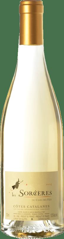 13,95 € Free Shipping | White wine Le Clos des Fées Les Sorcières Blanc I.G.P. Vin de Pays Côtes Catalanes Languedoc-Roussillon France Grenache White, Roussanne, Vermentino Bottle 75 cl