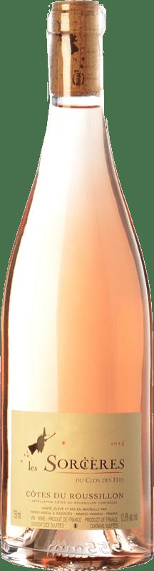 12,95 € Free Shipping | Rosé wine Le Clos des Fées Les Sorcières Rosé A.O.C. Côtes du Roussillon Languedoc-Roussillon France Grenache, Mourvèdre Bottle 75 cl