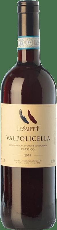 13,95 € | Red wine Le Salette Classico D.O.C. Valpolicella Veneto Italy Sangiovese, Corvina, Rondinella, Corvinone, Molinara Bottle 75 cl