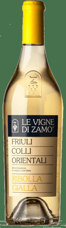 16,95 € Free Shipping | White wine Zamò D.O.C. Colli Orientali del Friuli Friuli-Venezia Giulia Italy Ribolla Gialla Bottle 75 cl