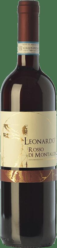 12,95 € | Red wine Leonardo da Vinci Leonardo D.O.C. Rosso di Montalcino Tuscany Italy Sangiovese Bottle 75 cl