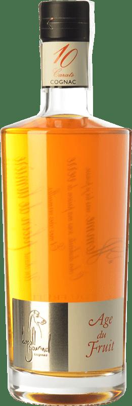 81,95 € 免费送货 | 科涅克白兰地 Léopold Gourmel Age du Fruit A.O.C. Cognac 法国 瓶子 70 cl