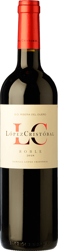11,95 € | Red wine López Cristóbal Roble D.O. Ribera del Duero Castilla y León Spain Tempranillo, Merlot Bottle 75 cl