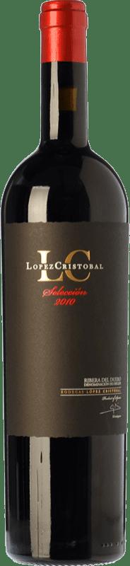 37,95 € 免费送货 | 红酒 López Cristóbal Selección Crianza D.O. Ribera del Duero 卡斯蒂利亚莱昂 西班牙 Tempranillo 瓶子 75 cl