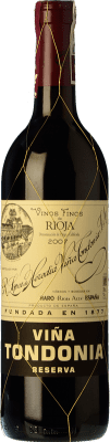 18,95 € | Red wine López de Heredia Viña Tondonia Reserva 2005 D.O.Ca. Rioja The Rioja Spain Tempranillo, Grenache, Graciano, Mazuelo Half Bottle 37 cl