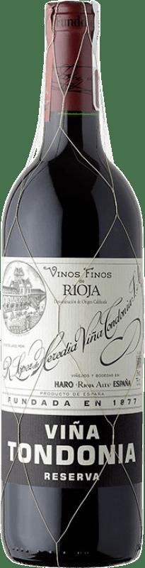 79,95 € Envío gratis   Vino tinto López de Heredia Viña Tondonia Reserva 2008 D.O.Ca. Rioja La Rioja España Tempranillo, Garnacha, Graciano, Mazuelo Botella Mágnum 1,5 L