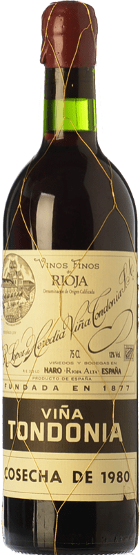 211,95 € Envoi gratuit   Vin rouge López de Heredia Viña Tondonia Gran Reserva 1995 D.O.Ca. Rioja La Rioja Espagne Tempranillo, Grenache, Graciano, Mazuelo Bouteille 75 cl
