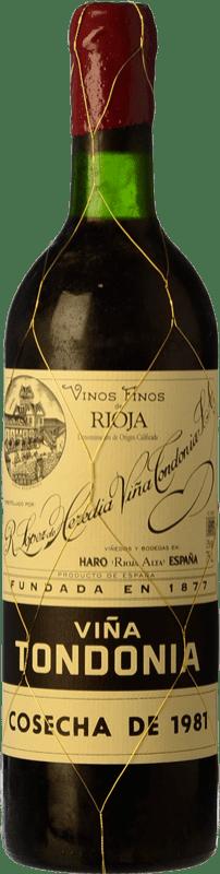 211,95 € Envío gratis   Vino tinto López de Heredia Viña Tondonia Gran Reserva 1995 D.O.Ca. Rioja La Rioja España Tempranillo, Garnacha, Graciano, Mazuelo Botella 75 cl