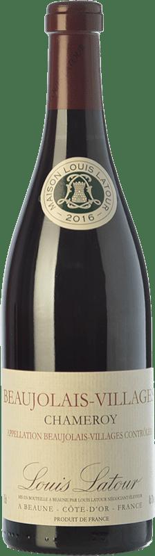 14,95 € 免费送货 | 红酒 Louis Latour Chameroy Joven A.O.C. Beaujolais-Villages 博若莱 法国 Gamay 瓶子 75 cl