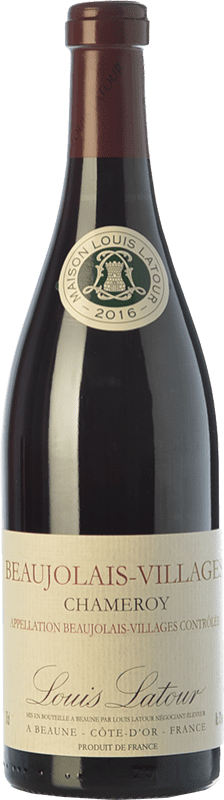14,95 € Free Shipping | Red wine Louis Latour Chameroy Joven A.O.C. Beaujolais-Villages Beaujolais France Gamay Bottle 75 cl