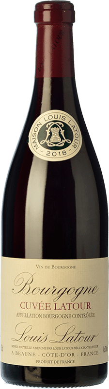 21,95 € Free Shipping | Red wine Louis Latour Cuvée Latour Crianza A.O.C. Bourgogne Burgundy France Pinot Black Bottle 75 cl