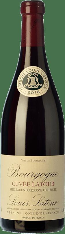 21,95 € Envío gratis | Vino tinto Louis Latour Cuvée Latour Crianza A.O.C. Bourgogne Borgoña Francia Pinot Negro Botella 75 cl