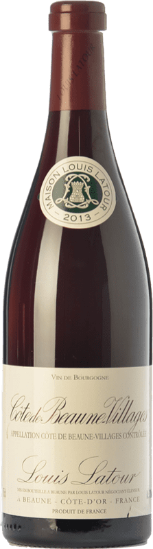 28,95 € Free Shipping | Red wine Louis Latour Villages Crianza A.O.C. Côte de Beaune Burgundy France Pinot Black Bottle 75 cl