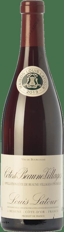 28,95 € Envío gratis | Vino tinto Louis Latour Villages Crianza A.O.C. Côte de Beaune Borgoña Francia Pinot Negro Botella 75 cl