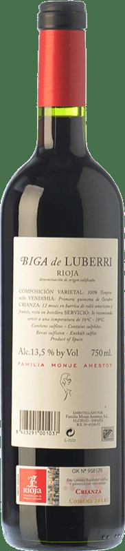 11,95 € Free Shipping   Red wine Luberri Biga Crianza D.O.Ca. Rioja The Rioja Spain Tempranillo Bottle 75 cl