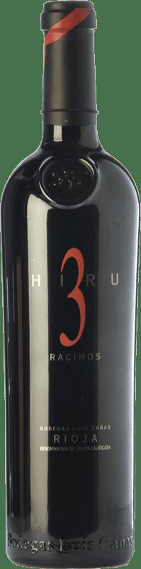 115,95 € 免费送货   红酒 Luis Cañas Hiru 3 Racimos Crianza 2009 D.O.Ca. Rioja 拉里奥哈 西班牙 Tempranillo 瓶子 75 cl